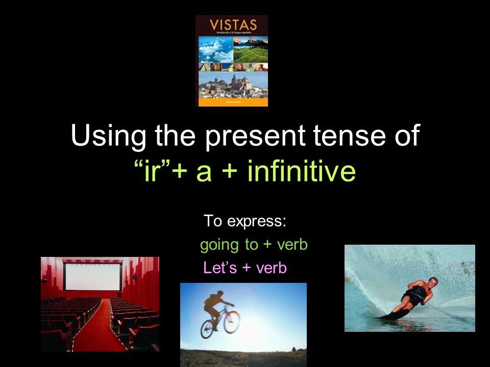 4.1 Present tense of ir Vamos a + infinitivo = Lets For fun...