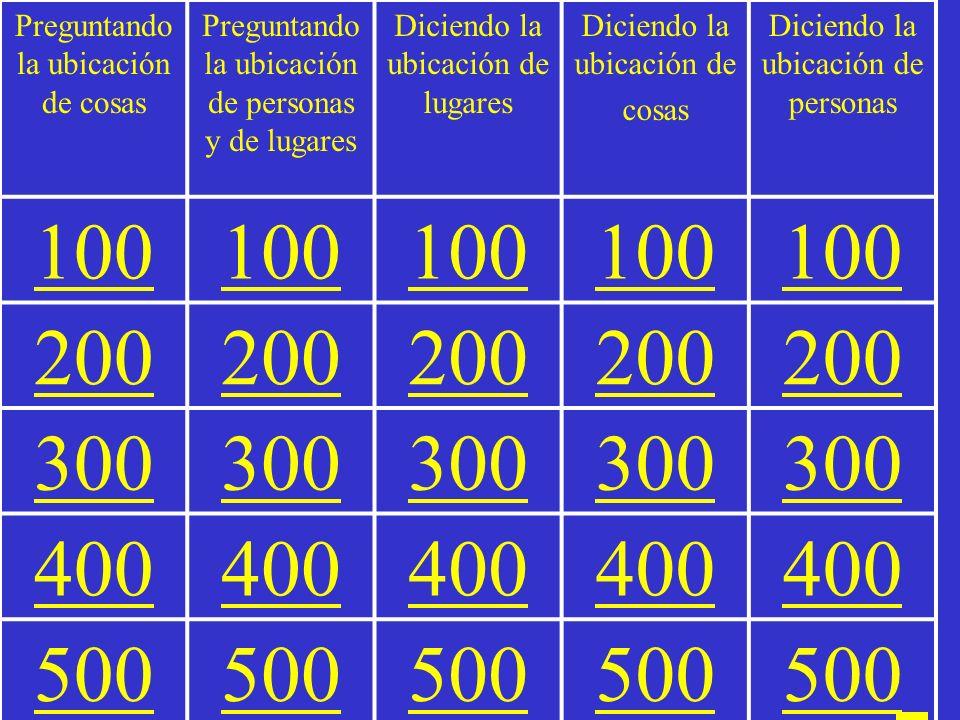 Peligro = Jeopardy Español I La ubicación