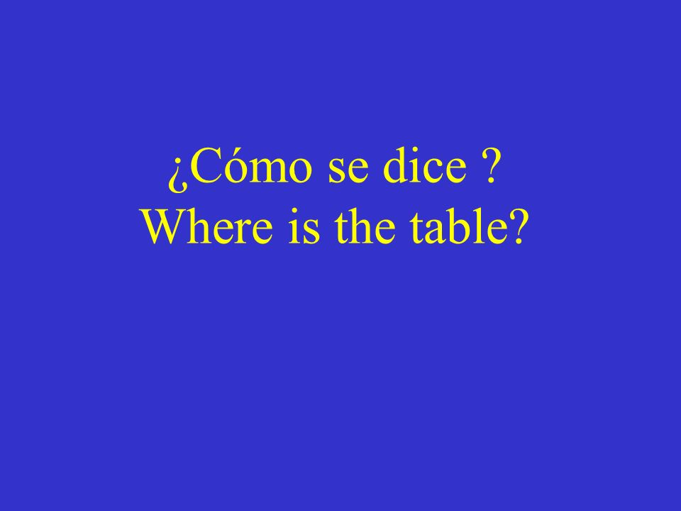 ¿Cómo se dice? Where is the bookstore?