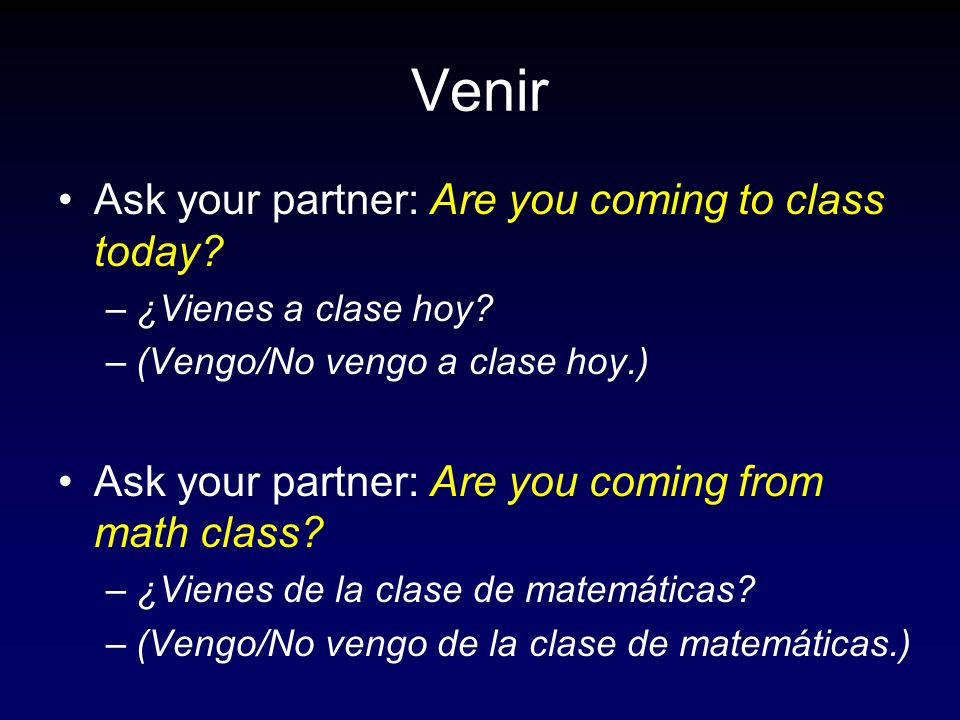 Ask your partner: At what time do the students come to school.