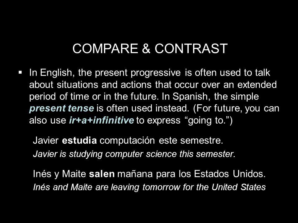 5.2 The present progressive ¡INTÉNTALO.