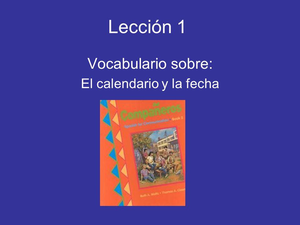 ¿Cuál es la fecha de hoy.= What is todays date. 20/5/09 Hoy es el veinte de mayo de dos mil nueve.