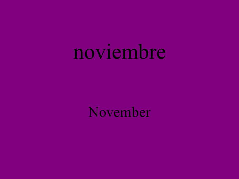 noviembre November
