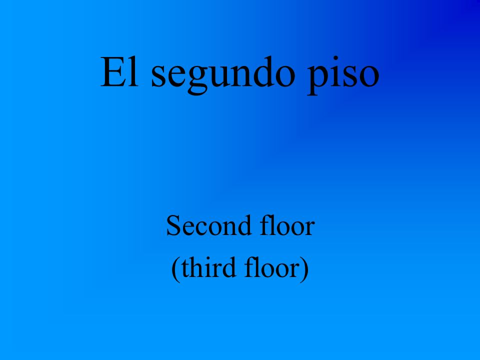 El primer piso First floor (2nd floor)