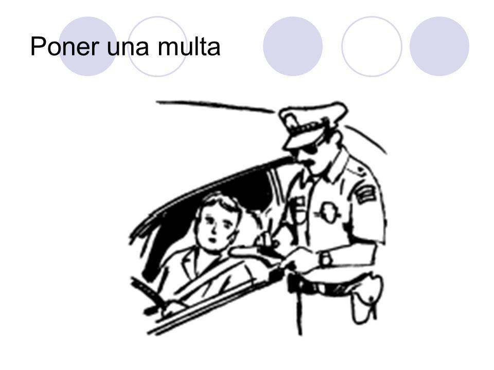 Poner una multa