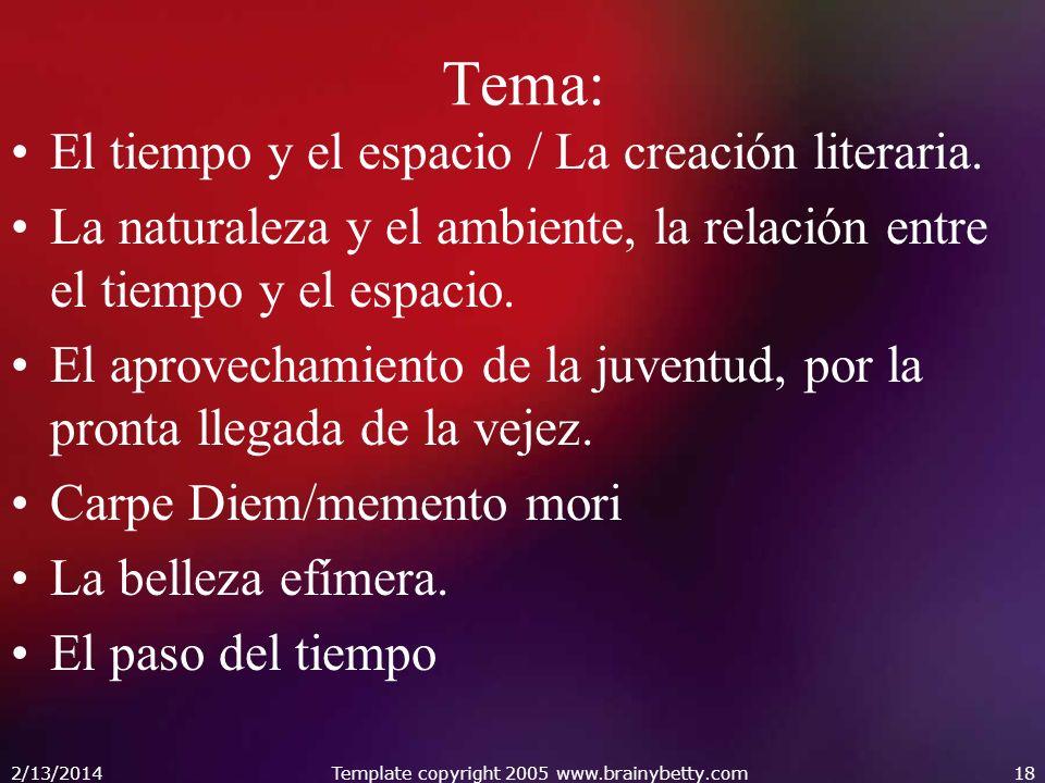 Tema: El tiempo y el espacio / La creación literaria.