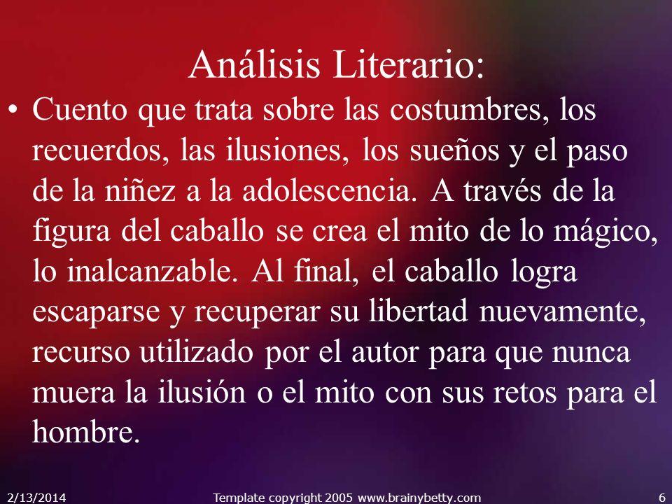 Análisis Literario: Cuento que trata sobre las costumbres, los recuerdos, las ilusiones, los sueños y el paso de la niñez a la adolescencia. A través