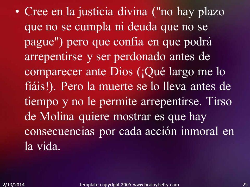 Cree en la justicia divina (