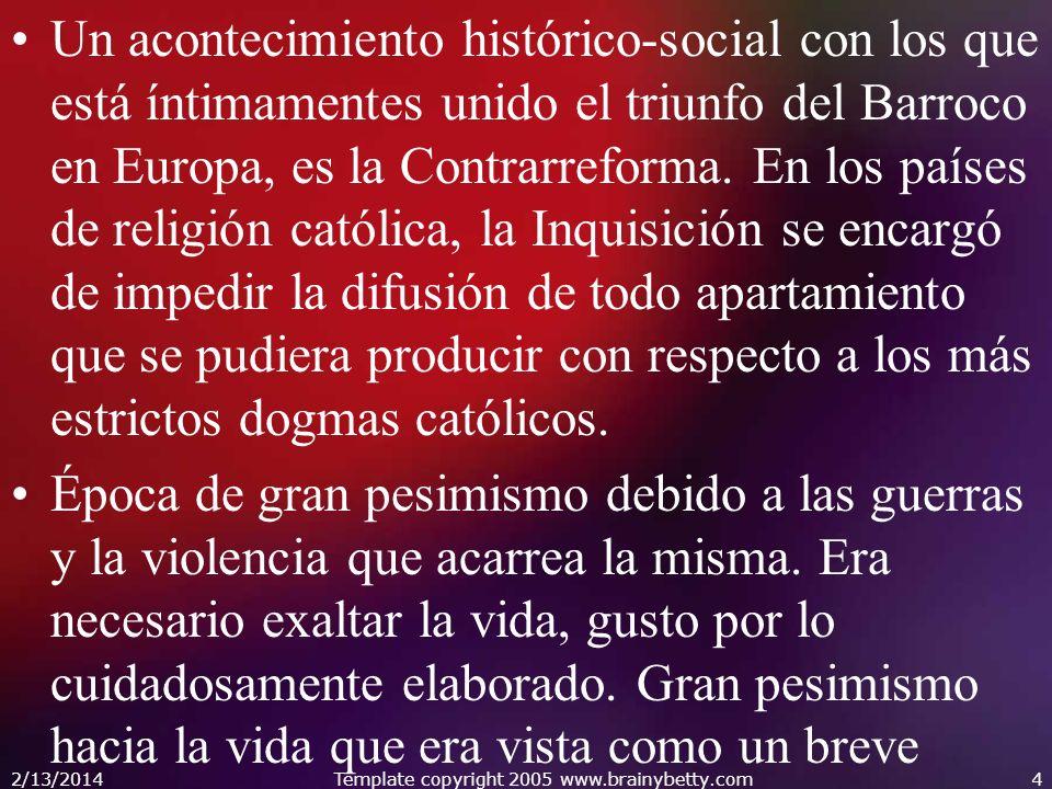 Un acontecimiento histórico-social con los que está íntimamentes unido el triunfo del Barroco en Europa, es la Contrarreforma. En los países de religi