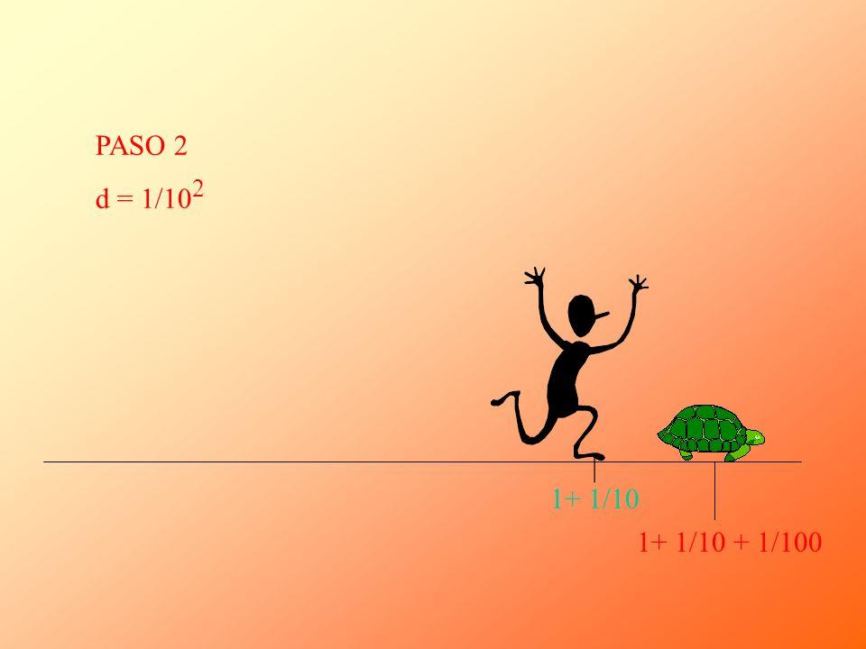 | 1+ 1/10 + 1/100 PASO 2 d = 1/10 2