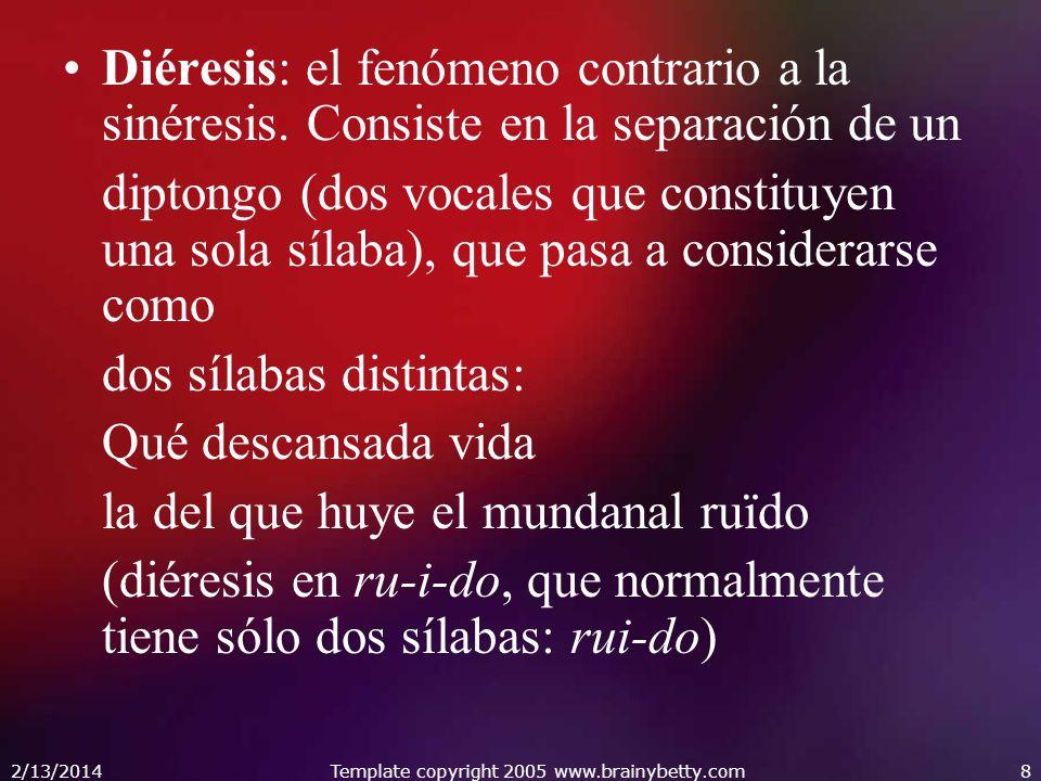 2/13/2014Template copyright 2005 www.brainybetty.com19 Redondilla: Versos generalmente octosílabos, rima consonante, 8a 8b 8b 8a.( 4 verosos)Redondilla Soneto: Es una combinación estrófica de catorce versos, compuesta por dos cuartetos y dos tercetos 11A 11B 11B 11A 11A 11B 11B 11A 11C 11D 11C 11E 11D 11E.9 (14 versos)Soneto Terceto: versos endecasílabos (o, en general,de arte mayor), con rima consonante.( 3 versos)Terceto