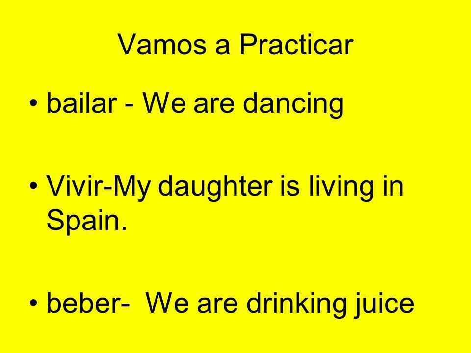 Escribir las frases en español 1.I am singing.b. estoy cantando.