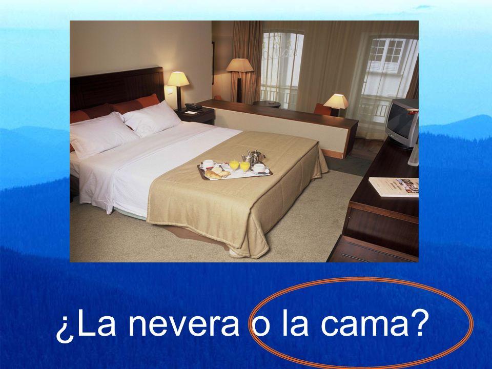 ¿La nevera o la cama?