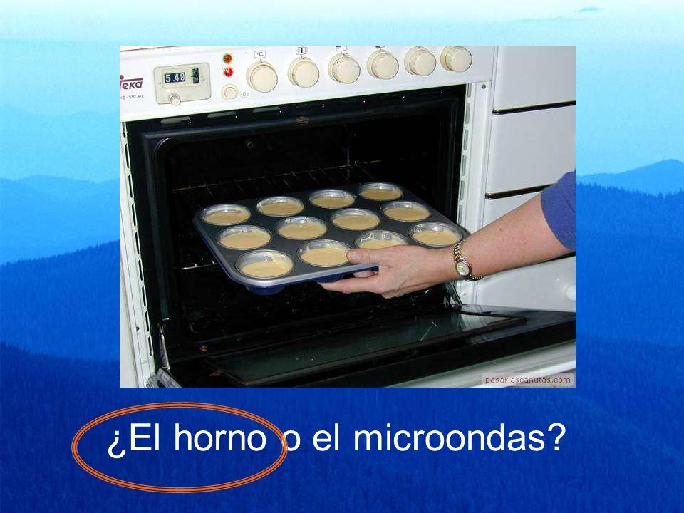 ¿El horno o el microondas?