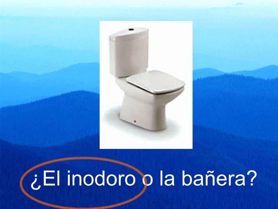 ¿El inodoro o la bañera?