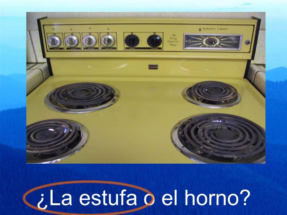 ¿La estufa o el horno?