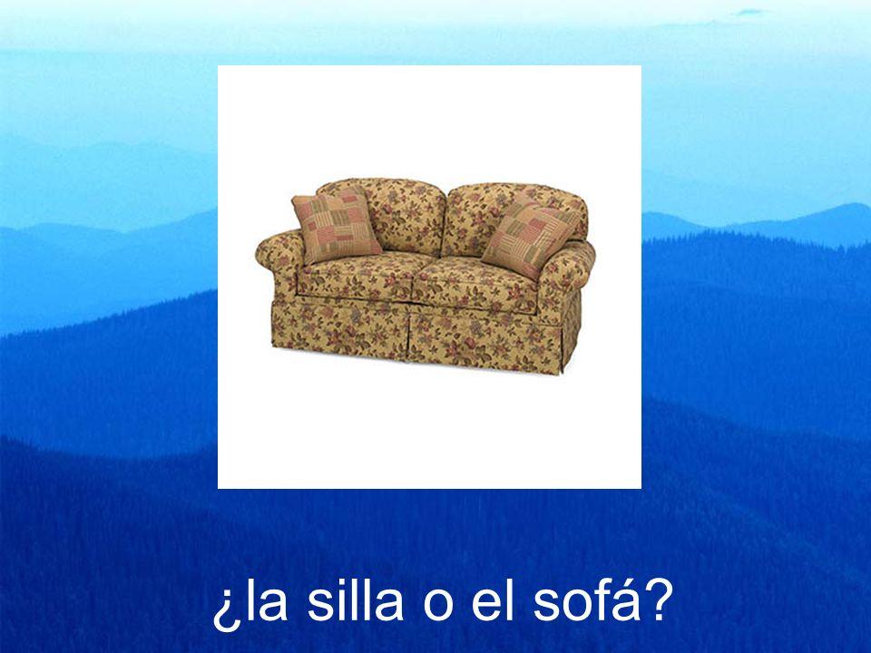 ¿la silla o el sofá?