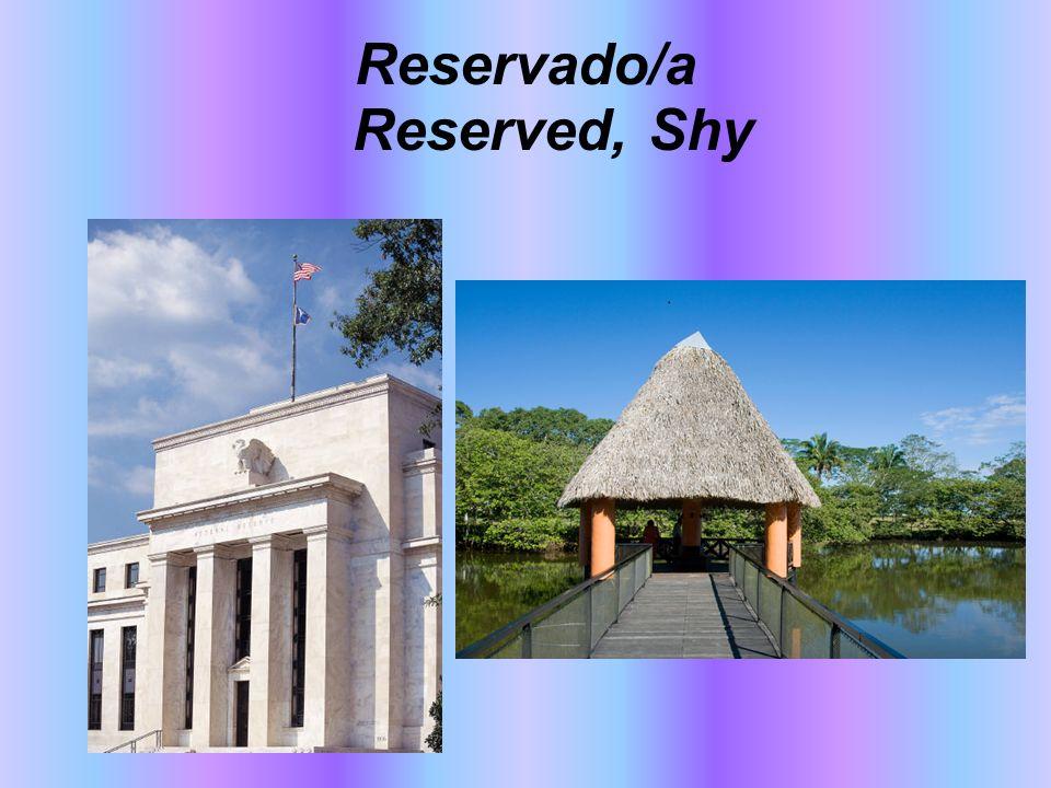 Reservado/a Reserved, Shy