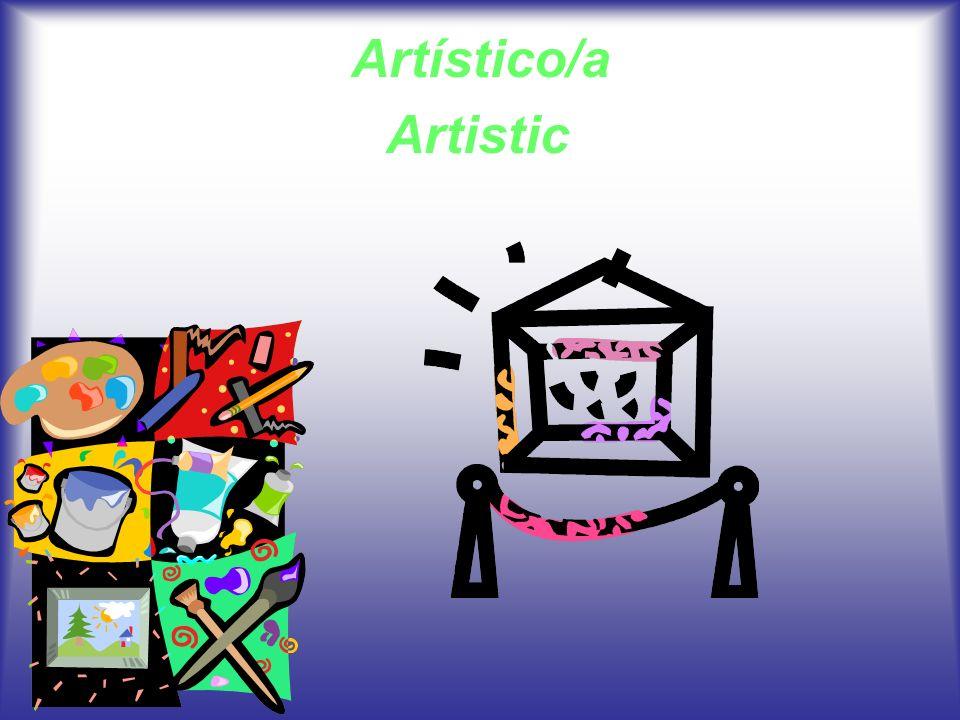 Artístico/a Artistic