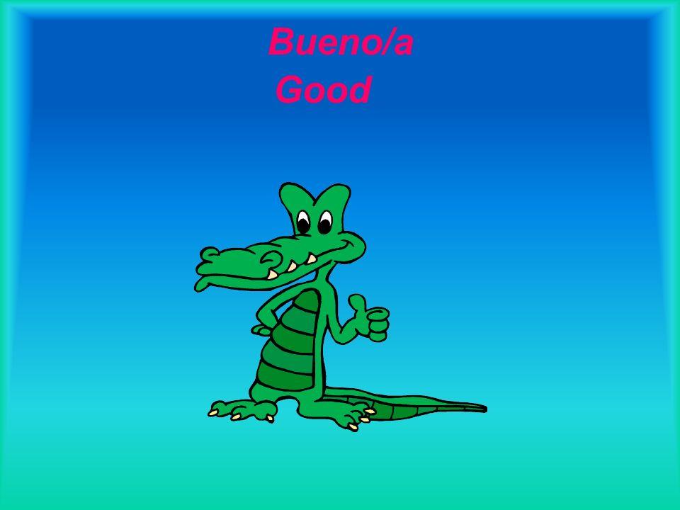 Bueno/a Good