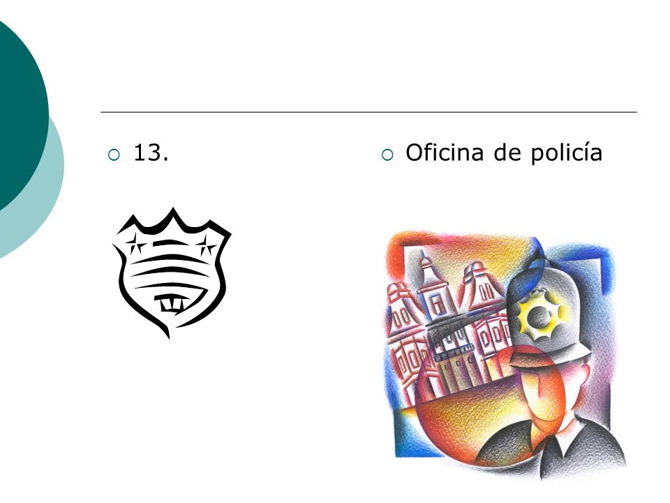 13. Oficina de policía