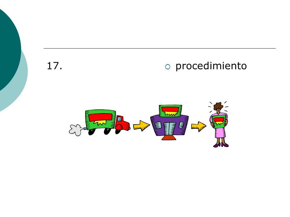 17. procedimiento