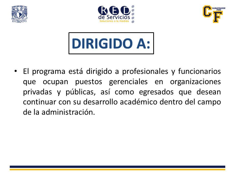 k)Carta de exposición de motivos de ingreso al posgrado, dirigida al coordinador del programa de posgrado en ciencias de la Administración, Dr.