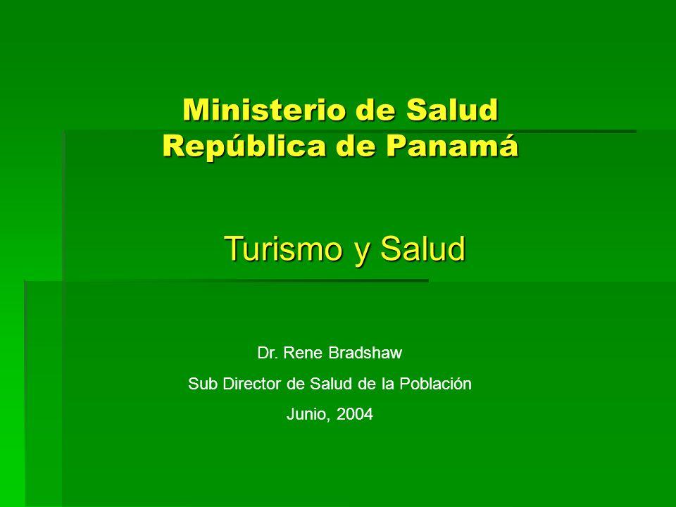 Ministerio de Salud República de Panamá Turismo y Salud Dr. Rene Bradshaw Sub Director de Salud de la Población Junio, 2004