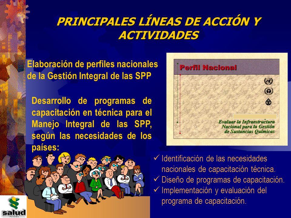 13 República de Panamá PRINCIPALES LÍNEAS DE ACCIÓN Y ACTIVIDADES Elaboración de perfiles nacionales de la Gestión Integral de las SPP Desarrollo de p