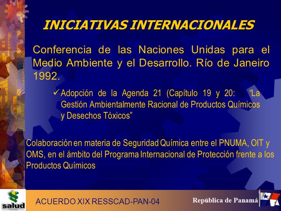 8 República de Panamá Foro Intergubernamental de Seguridad Química (FISQ), en 1994.