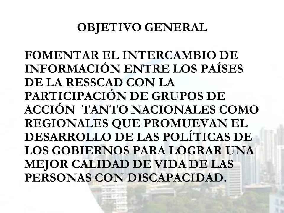 OBJETIVOS ESPECÍFICOS 1.ESTABLECER UN SISTEMA DE INFORMACIÓN REGIONAL DE DISCAPACIDAD SOBRE: PROGRAMAS Y SERVICIOS.