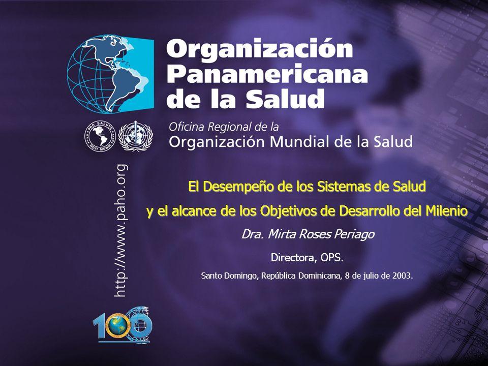 Pan American Health Organization 2004 22 Los compromisos globales y la salud El defecto más grave de los actuales sistemas de salud es la falta de equidad, tanto en el interior de los países como entre ellos.