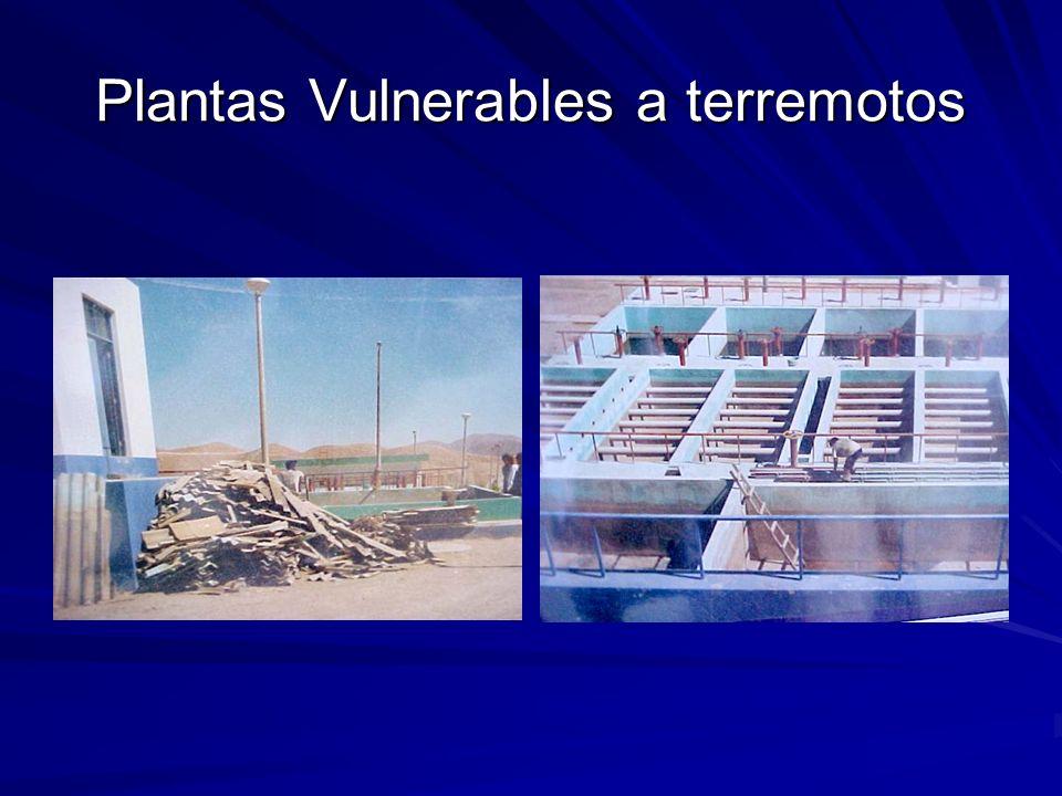 Plantas Vulnerables a terremotos