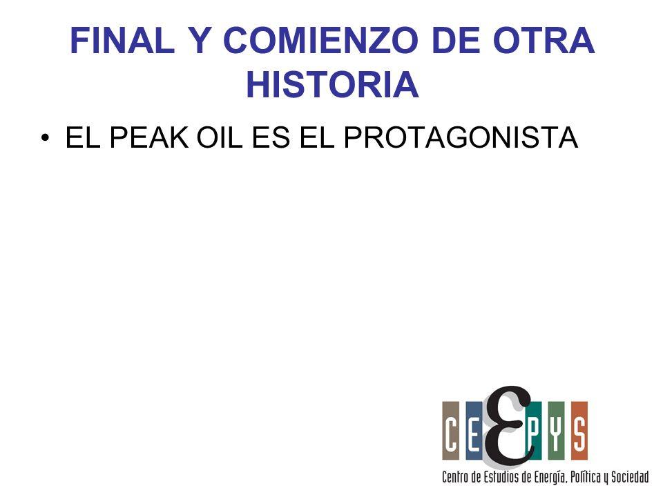 FINAL Y COMIENZO DE OTRA HISTORIA EL PEAK OIL ES EL PROTAGONISTA