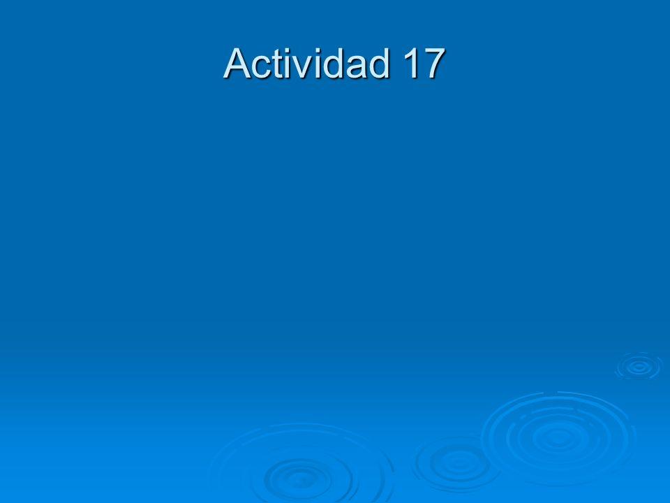 Actividad 17