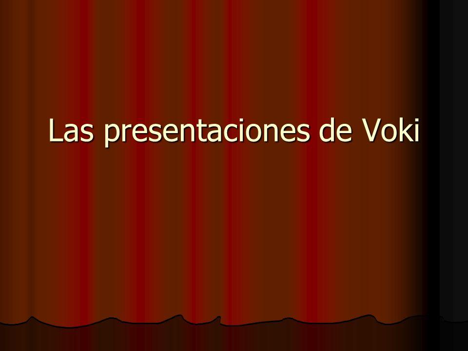 Las presentaciones de Voki