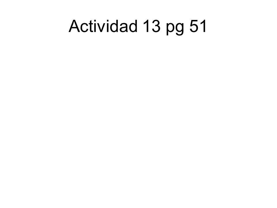 Actividad 13 pg 51