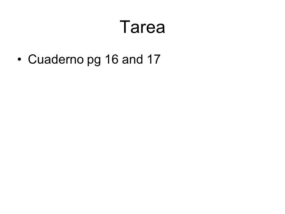 Tarea Cuaderno pg 16 and 17