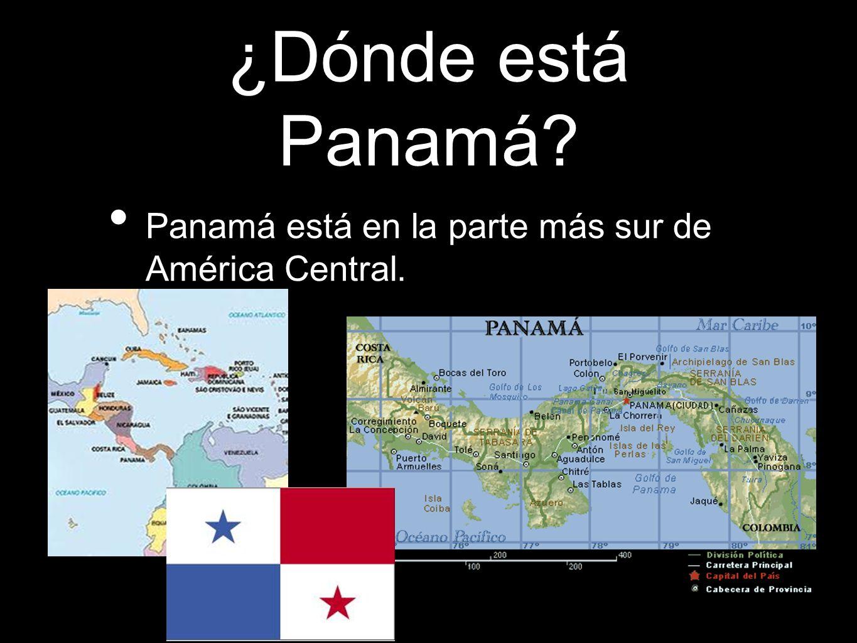 ¿Dónde está Panamá? Panamá está en la parte más sur de América Central.