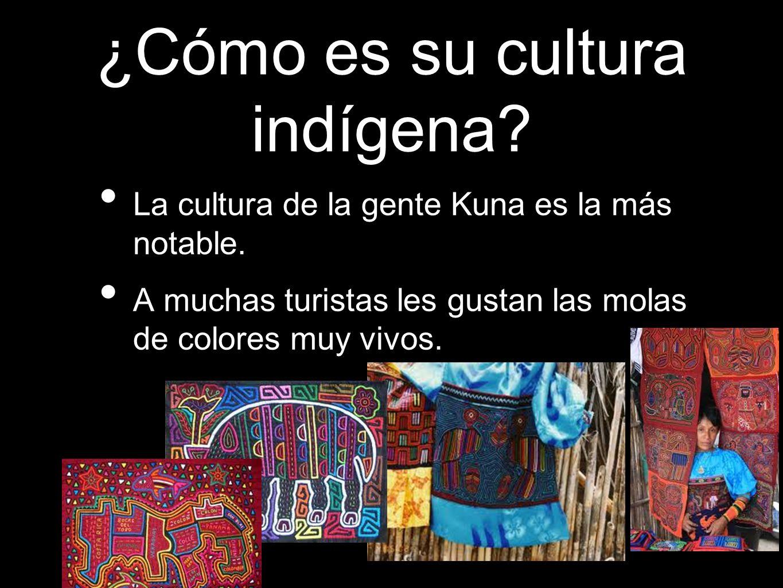 ¿Cómo es su cultura indígena? La cultura de la gente Kuna es la más notable. A muchas turistas les gustan las molas de colores muy vivos.