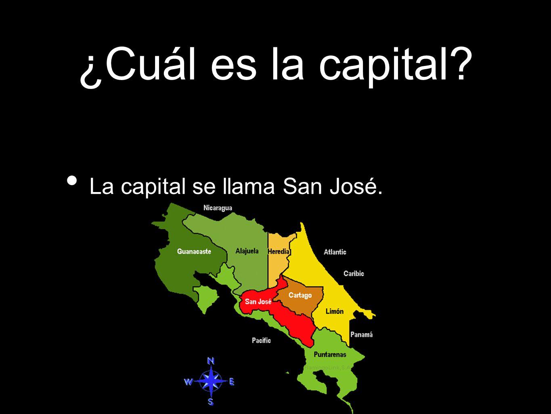¿Cuál es la capital? La capital se llama San José.