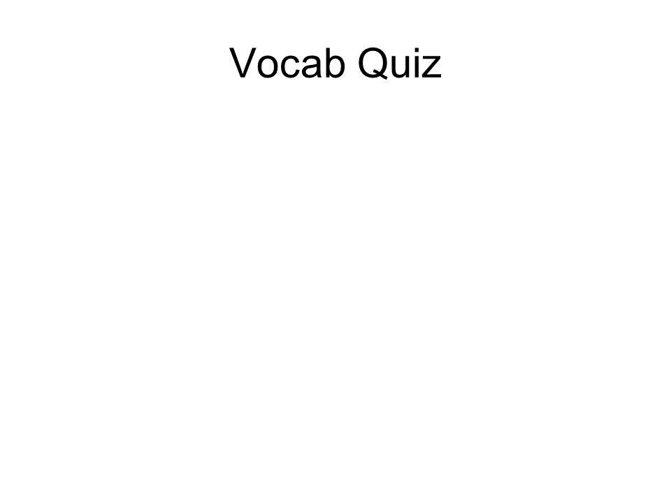 Vocab Quiz