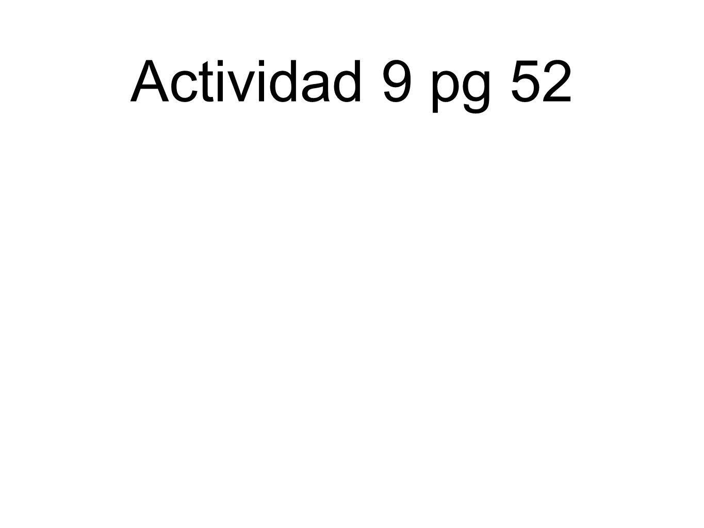 Actividad 9 pg 52