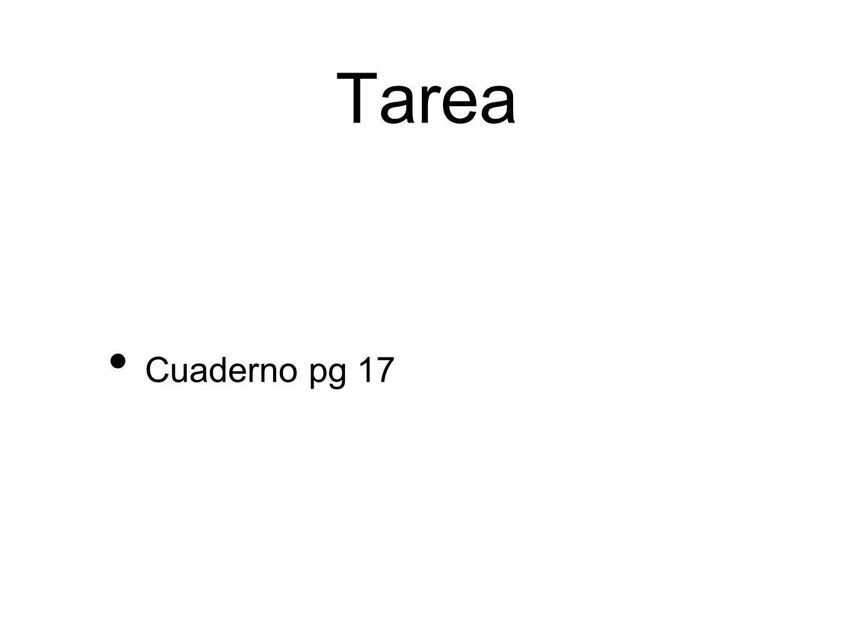 Tarea Cuaderno pg 17