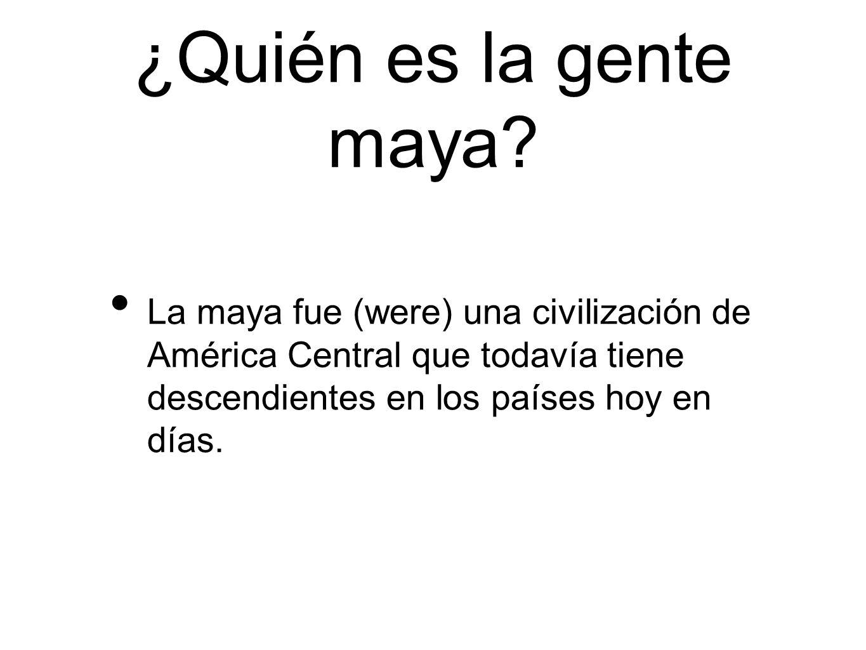 ¿Quién es la gente maya.