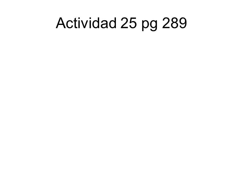 Actividad 25 pg 289
