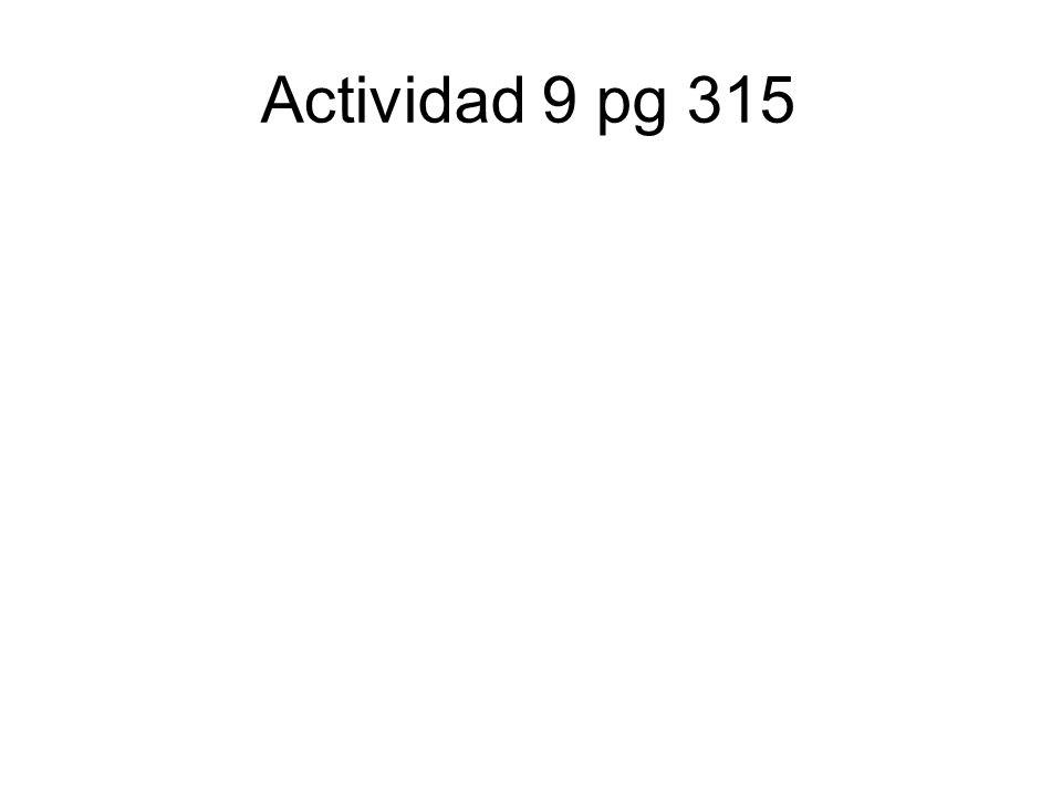 Actividad 9 pg 315