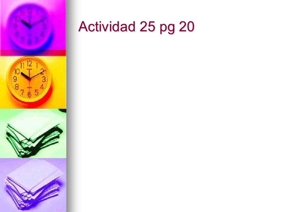 Actividad 25 pg 20