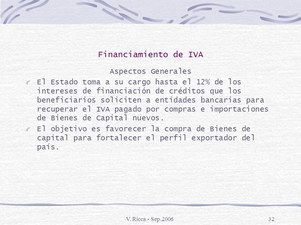 V. Ricca - Sep.200631 Draw – Back Normativa: Código Aduanero Artículos 820 a 824 Decreto 1001\82 Articulo 92 Decreto 1012\91