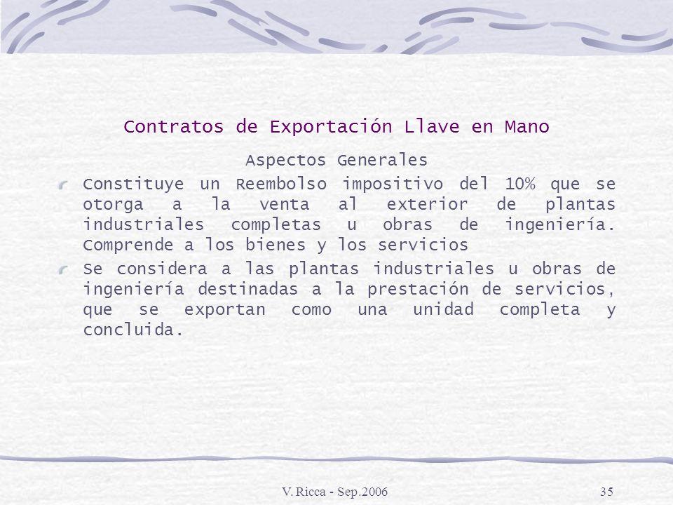 V. Ricca - Sep.200634 Financiamiento de IVA Normativa: Ley 24402 Decreto 779\95